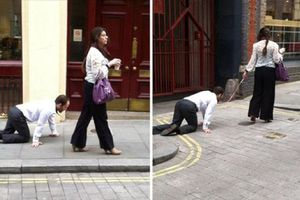 Bị bắt khi 'dắt chồng' ra đường để né lệnh giới nghiêm, người vợ quả quyết: 'Tôi chỉ đang dắt chó đi dạo'