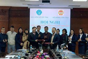 Bảo hiểm xã hội tỉnh – Hội Nông dân tỉnh ký kết chương trình phối hợp năm 2021