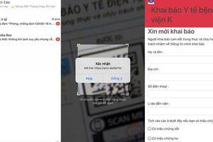 Quét mã Zalo QR để khai báo y tế trực tuyến