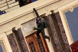 Người biểu tình trèo xuống ban công Điện Capitol nói xin lỗi