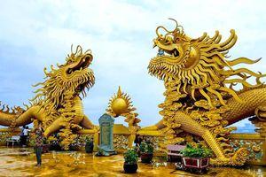 Chùa nào ở Bình Dương có 2 đôi rồng vàng khổng lồ?