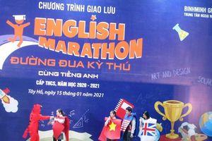 Học sinh hào hứng giao lưu 'Đường đua kỳ thú cùng tiếng Anh'