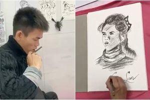 'YouTuber chăn bò' Soytiet trổ tài hội họa, vẽ tranh bạn gái khiến dân mạng bất ngờ