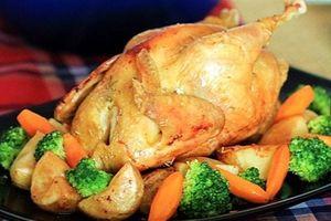 Công thức chế biến gà nướng rau củ ngon lạ miệng