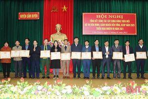 Cẩm Xuyên phấn đấu về đích huyện NTM trong tháng 6/2021