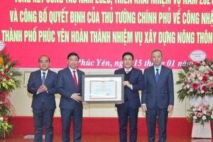 Vĩnh Phúc: TP Phúc Yên nhận QĐ của Thủ tướng Chính phủ về hoàn thành xây dựng nông thôn mới
