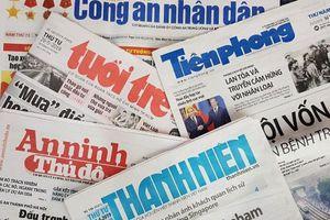 Một số cơ quan báo chí bị thu hồi giấy phép từ 1/3
