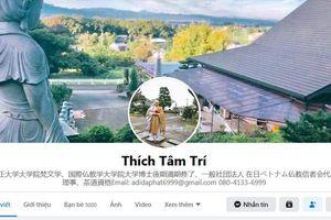Giả mạo mạng xã hội Hội trưởng Hội Phật tử Việt Nam tại Nhật Bản để lừa gạt