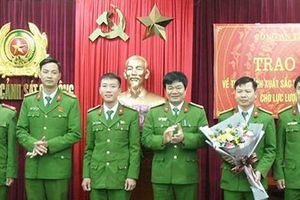 Khen thưởng Phòng CSCĐ Công an tỉnh Thanh Hóa trong đấu tranh trấn áp tội phạm