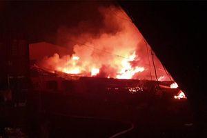 Cháy dữ dội tại công ty giày da Mỹ Nga