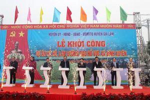 Huyện Gia Lâm: Khởi công dự án kè hồ, làm đường dạo hồ Vực