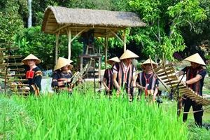 Trải nghiệm không gian văn hóa truyền thống tại Khu du lịch 'Một thoáng Việt Nam'
