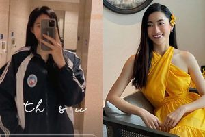 Đỗ Thị Hà mặc đồng phục giản dị đến trường, Lương Thùy Linh khoe vai trần gợi cảm với váy yếm