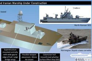 Tàu tàng hình Iran bay trên mặt nước tấn công đối thủ