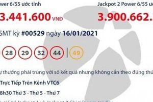 Xổ số Vietlott 16/1/2021: Tìm người may mắn trúng hơn 36 tỷ đồng