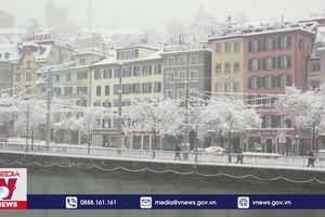 Khung cảnh tuyết phủ thần tiên tại Thụy Sĩ