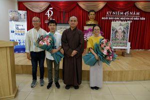 Khai mạc triển lãm mỹ thuật 'Đạo và Phật' tại Báo Giác Ngộ