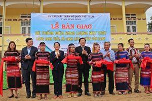 Tặng hệ thống điện mặt trời cho đồng bào thiểu số huyện Vân Canh, Bình Định