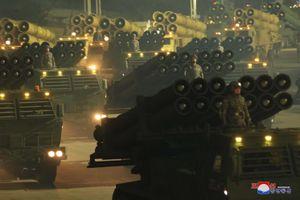 Dàn khí tài hoành tráng trong lễ duyệt binh Triều Tiên kỷ niệm đại hội đảng