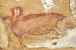 Phát hiện bức tranh vẽ con vật lâu đời nhất thế giới