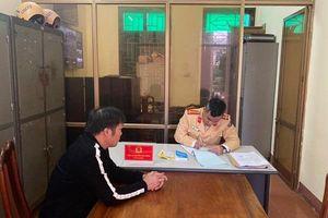 Hà Tĩnh: Xử phạt tài xế xe tải đi ngược chiều đoạn qua thị xã Hồng Lĩnh