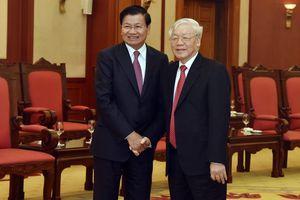 Tổng Bí thư, Chủ tịch nước Nguyễn Phú Trọng mời tân Tổng Bí thư Lào sang thăm Việt Nam