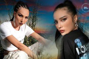 Hoa hậu Kỳ Duyên và siêu mẫu Minh Triệu tung bộ ảnh quảng bá thương hiệu riêng cực 'chất'