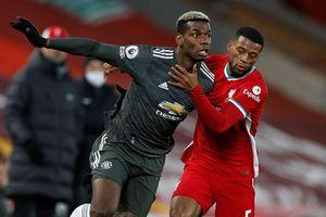 Không thắng Liverpool, M.U nguy cơ bị Man City soán ngôi đầu