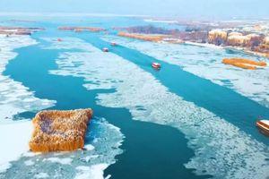 Khung cảnh mùa đông tuyệt đẹp ở Hồ Cát