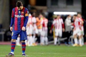 Messi nhận thẻ đỏ, Barcelona mất Siêu cúp vào tay Athletic Bilbao