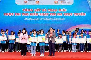 Học sinh Đắk Lắk và Phú Thọ về nhất thi tìm hiểu Luật Trẻ em