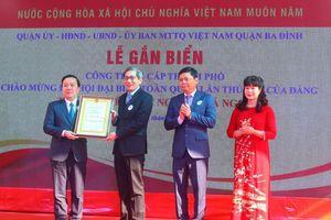 Hà Nội gắn biển công trình trường học chào mừng Đại hội XIII của Đảng