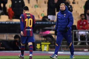 Messi nhận thẻ đỏ, Barcelona thất bại tại chung kết Siêu cúp Tây Ban Nha