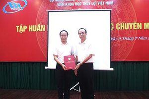 Phó Giám đốc Viện Khoa học Thủy lợi Việt Nam đạt chuẩn chức danh giáo sư 2020