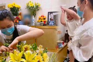 Bà xã Vân Quang Long đến thắp hương cho chồng sau ồn ào