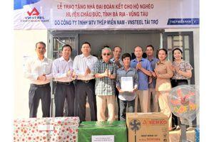 Thép Miền Nam – VNSTEEL trao tặng 5 nhà đại đoàn kết cho gia đình có hoàn cảnh khó khăn tại tỉnh Bà Rịa Vũng Tàu