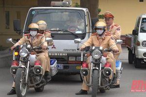 Công an thị xã Nghi Sơn ra quân tuyên truyền đảm bảo ANTT dịp Tết Nguyên đán Tân Sửu