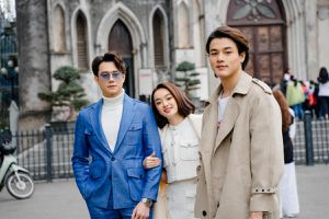 Kaity Nguyễn tận hưởng cái rét Hà Nội cùng 2 trai đẹp Khương Lê, Anh Dũng