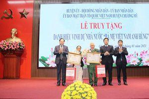 Hà Nội: Truy tặng danh hiệu 'Bà mẹ Việt Nam anh hùng' cho 2 mẹ liệt sỹ
