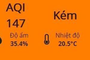 Vừa giữ sắc vàng 1 ngày, chất lượng không khí Hà Nội lại chuyển sang màu cam