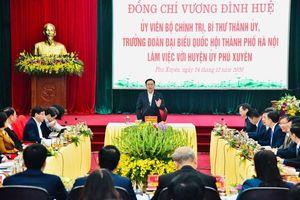 Phú Xuyên: Đẩy nhanh tiến độ hoàn thành các dự án, nâng tỷ lệ cấp nước sạch đạt 100%