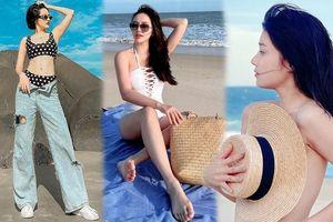 Sao Việt đi biển: Hoàng Yến Chibi bán nude táo bạo, Bảo Anh diện mốt 'tụt quần'