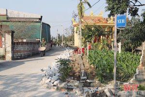 3 hộ dân ở Nghi Xuân hiến 180 m2 đất mở đường xây dựng nông thôn mới