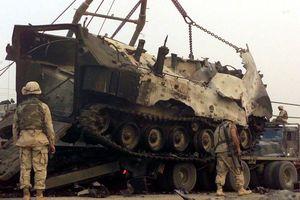 Xe tải quân sự Mỹ phát nổ ở Iraq
