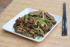 Những loại rau củ không thể nấu chung với gan lợn