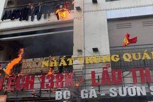 Nhà hàng Nhất Trung bốc cháy ngùn ngụt, khách bỏ chạy tán loạn
