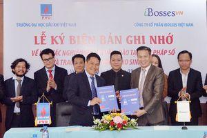 PVU cùng iBosses Việt Nam ký biên bản ghi nhớ và trao học bổng cho sinh viên