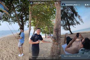 Đặng Văn Lâm liên tục khoe ảnh đi chơi giữa lùm xùm với Muangthong United