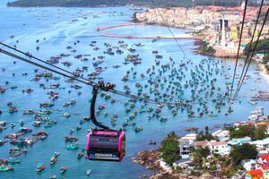 Cáp treo 3 dây vượt biển dài nhất thế giới ở Việt Nam
