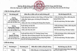 Đặt tên 3 tuyến phố mang tên của 3 liệt sĩ hy sinh bảo vệ biên giới Vị Xuyên